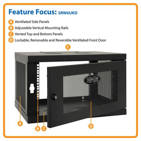 smartrack 6u wall mount rack enclosure cabinet smartrack 6u low profile switch depth wall mount rack