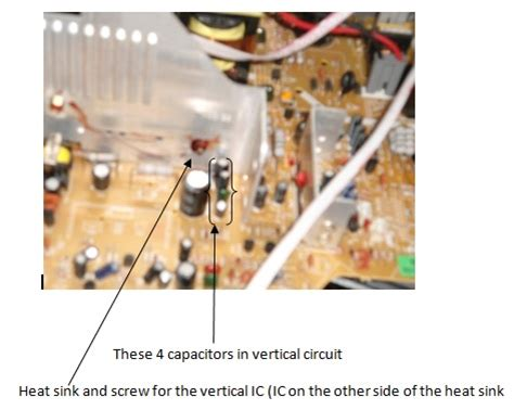 Vertical Section Of Tv by Joints In Horizontal Vertical Circuit In Crt Tv