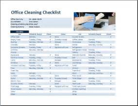 office cleaning list template commercial office cleaning checklist template word