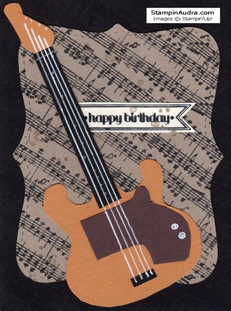 Guitar Birthday Card Guitar Birthday Card Made From Stin Up Supplies Itty
