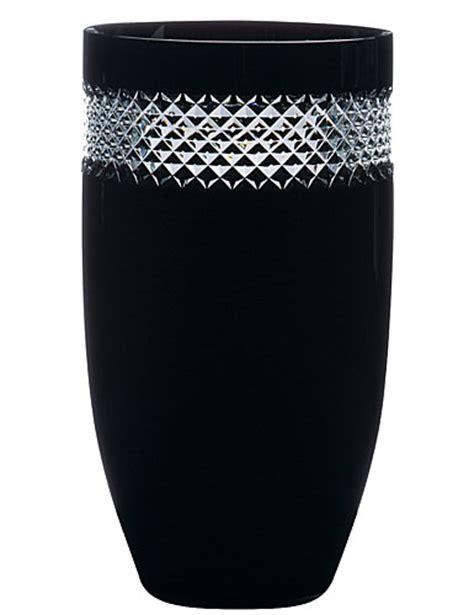 Rocha Waterford Vase by Waterford Rocha Black Cut Vase