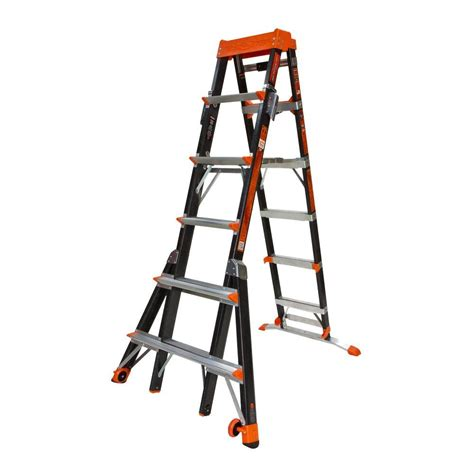 werner 10 ft reach fiberglass podium ladder with 300 lb