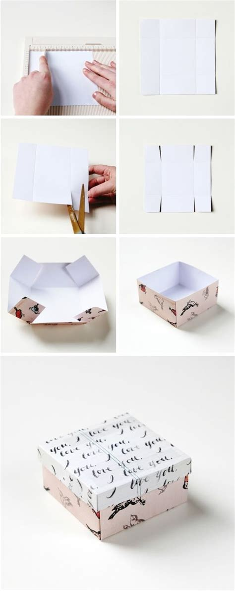 How To Make Gift Boxes Out Of Paper - 25 best ideas about recycled cards on