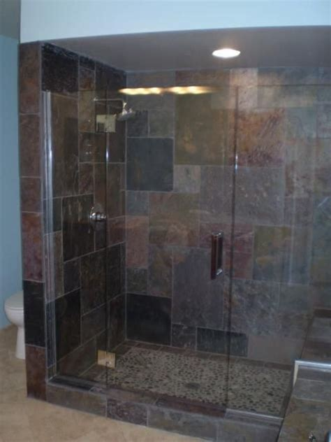slate bathroom shower 77 best images about slate tile showers on pinterest
