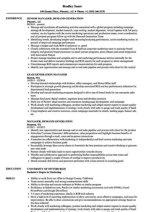 lead generation resume resume ideas