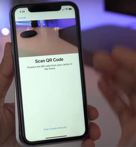 qr  manually add cellular plan  iphone xs maxxs