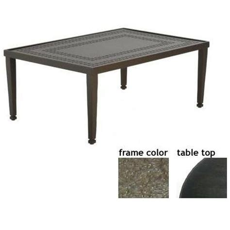 48 inch square coffee table coffee tables low prices hudson 32 x 48 inch aluminum