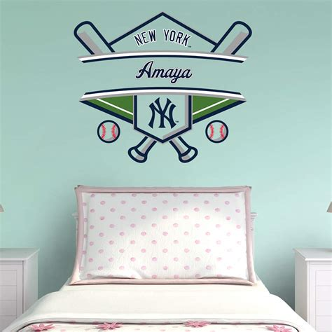new york yankees home decor new york yankees personalized name wall decal shop