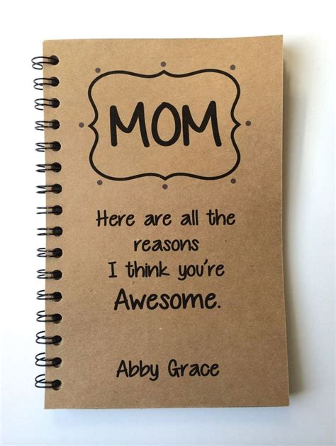 mom gifts birthday gift to mom mothers day gift notebook gift