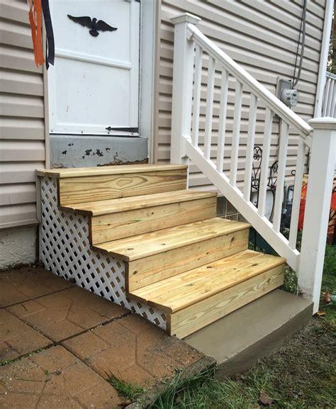 Outdoor Wood Stairs Exterior Wood Steps Glenside Jr Carpentry Tile