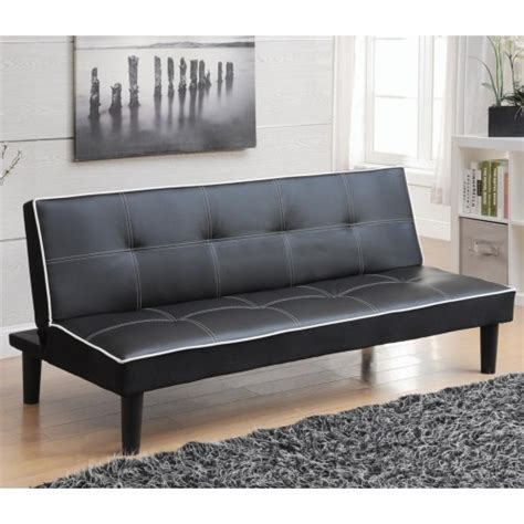 Futons R Us by Coaster Sofa Beds And Futons Leatherette Sofa Bed Piping