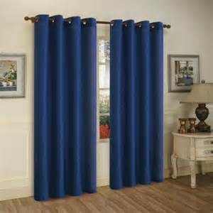 Blue Grommet Curtains Mira Navy Blue Grommet Top Curtain Panels 2 Pack Walmart