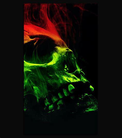smoking skull hd wallpaper   mobile