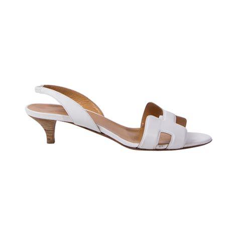 Sandal Hermes 2020 1 1 hermes retro kitten heel slip on sandal at 1stdibs