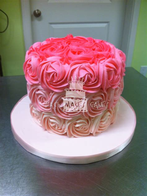 red roses pink ombre cake pink ombre rose cake rach makes cakes