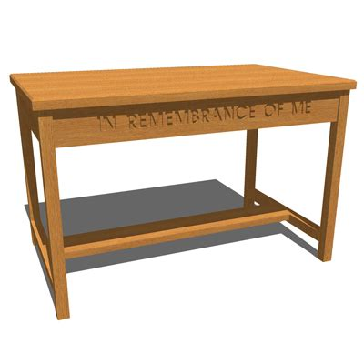 Communion Table by Communion Table 3d Model Formfonts 3d Models Textures
