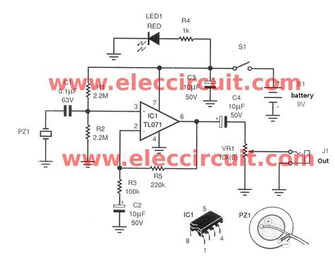 guitar circuit diagram acoustic guitar circuit using tl071 eleccircuit