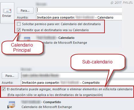 Calendario Compartido Outlook 2010 Calendarios Compartidos Compartir