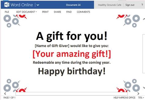Best Gift Certificate Templates For Word Online Powerpoint Gift Certificate Template