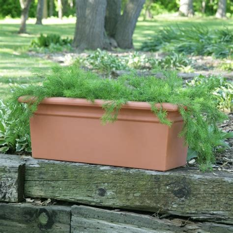 Resin Outdoor Planters by Rectangle Resin Scottsdale Planter Box Rec 24 1510 W