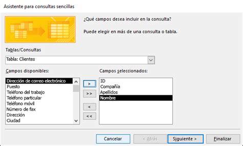 fotomulta y consulta en el d f crear una consulta de selecci 243 n sencilla access