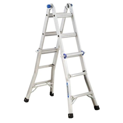 Home Ladder by Werner 13 Ft Aluminum Telescoping Multi Position Ladder
