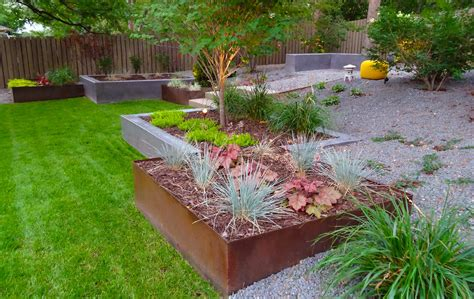 clean modern landscaping project in denver country club mile high landscaping