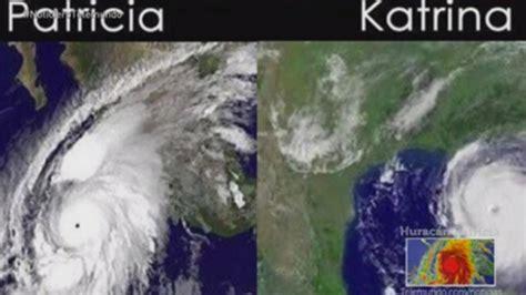 imagenes extrañas del huracan patricia el hurac 225 n patricia era casi tres veces m 225 s grande que