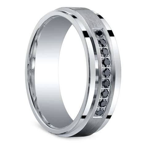 black s silver wedding ring