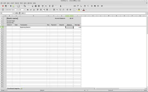 Banking Spreadsheet by Build Your Own Simple Linux Banking Tool Software