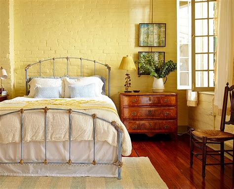 Yellow Bedroom Furniture 50 Delightful And Cozy Bedrooms With Brick Walls