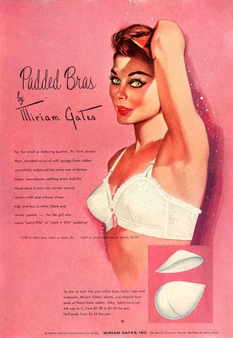 vintage bra commercials 1955 miriam gates padded bra vintage ad lingerie