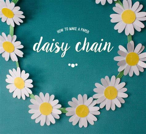 How To Make Paper Daisies - how to make a chain from paper crafty stuff