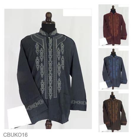 Baju Koko Bordir Motif Kotak baju batik koko exclusive motif kotak aplikasi bordir koko batik murah batikunik