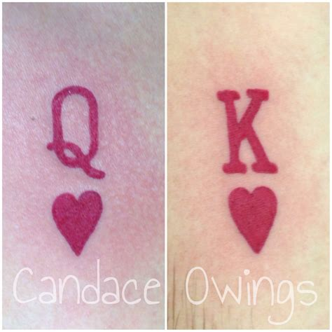 king and queen of hearts tattoo two tattoos i did of a king of hearts and a of