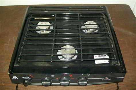 rv cooktop atwood wedgewood 3 burner lp gas cooktop range stove rv