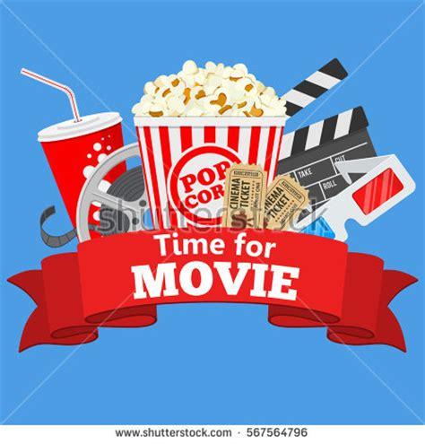 cinema movie time flat icons film stock vector 567564796