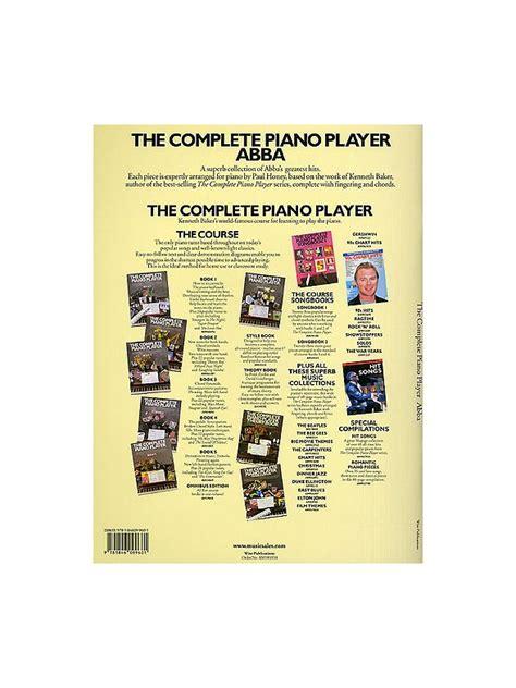 libro player piano the complete piano player abba piano voz y guitarra partituras partituras y cancioneros