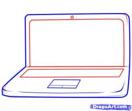 How To Draw A How To Draw A Laptop Step By Step Stuff Pop Culture