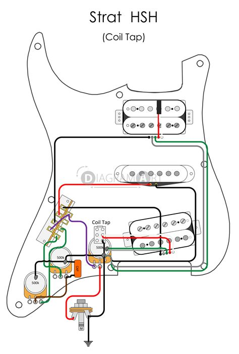 Electric Guitar Wiring Strat Hsh Coil Tap Electric