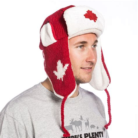 Online Home Builder red canada pilot hat