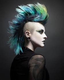 pictures female mohawks style short hairstyle 2013
