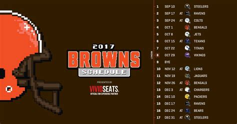 cleveland browns home schedule the whole nfl schedule autos post