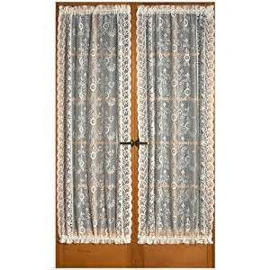 Amazon com windsor scottish style lace 72 quot door curtain panel