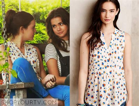 bailee madison sophia quinn the fosters season 3 episode 2 sophia s strawberry print