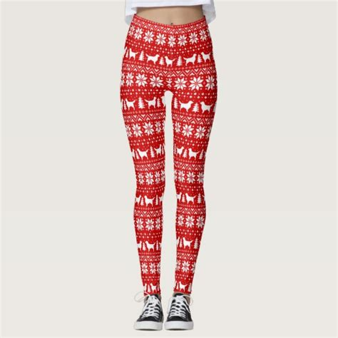 christmas pattern tights golden retriever silhouettes christmas pattern leggings
