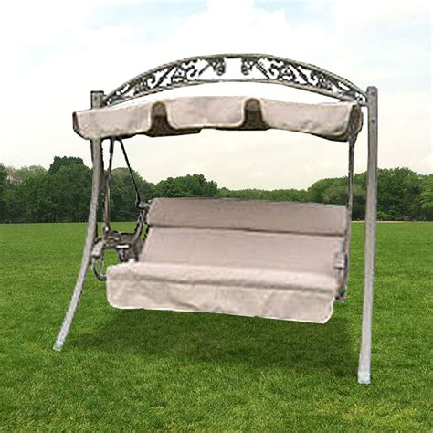 replacement patio swing cushions and canopy costco arched frame swing replacement canopy garden winds