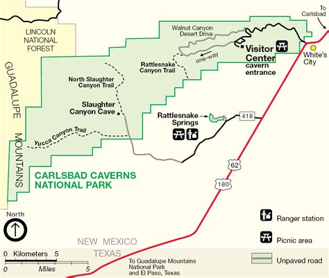 texas caverns map carlsbad caverns maps