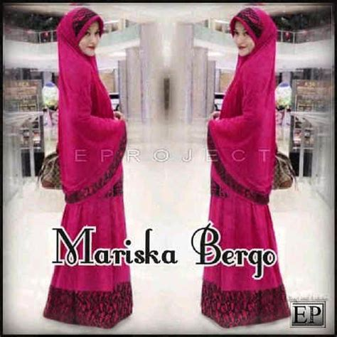 Gamis Maxi Dress Murah Azka Set Wolfice All Size Fit L Marun miftah shop distributor supplier tangan pertama baju hijabers onlineshop konveksi baju