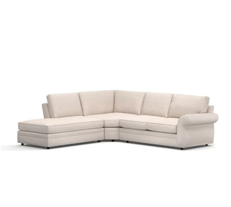 pearce sectional pearce upholstered 3 piece bumper sectional pottery barn